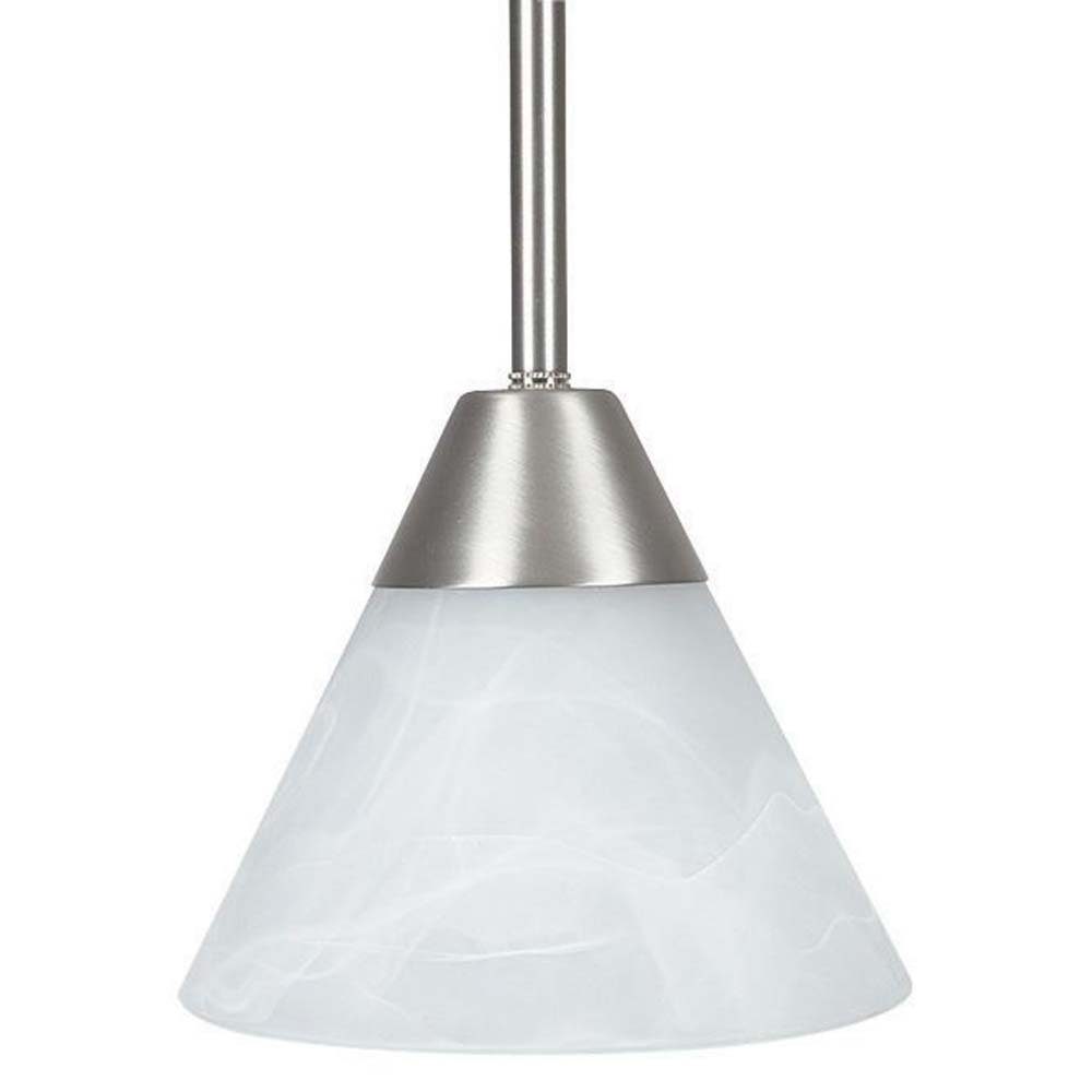Sunset Lighting F1013-53 Pendant with Frosted White Shades, Satin Nickel Finish