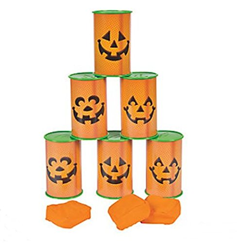 Jack O Lantern Pumpkin Can toss game - Halloween Party Game