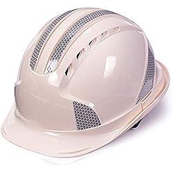 Construcción Casco de Seguridad-ABS Casco Reflectante Sitio de construcción Energía eléctrica Proyecto de construcción Casco de liderazgo Casco rígido Transpirable (5 Colores Opcionales)