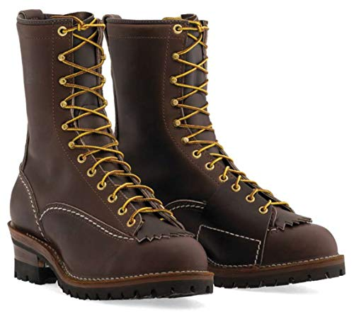 "Wesco Highliner 10"" Work Boot Brown 100 Vibram Sole - 9710100 (9 D US Men, Brown)"