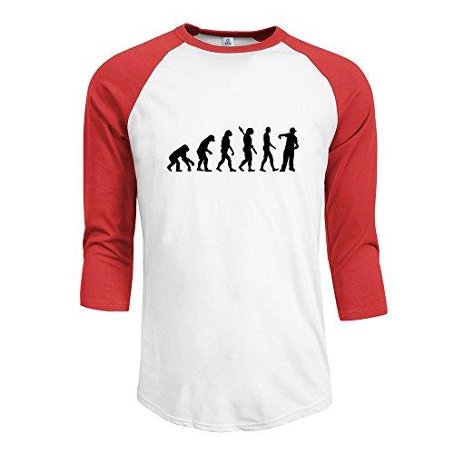 Price comparison product image Men's Evolution Rapper O-Neck Half Sleeve Raglan Baseball Tshirt