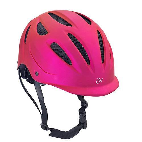 Ovation Women's Metallic Protege Riding Helmet, Fuchsia, Small/Medium