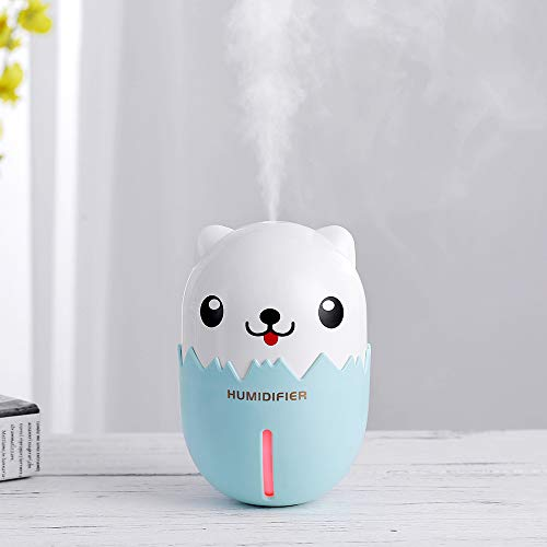 ANBOO Mini Humidifier,3 in 1 Air Purifier Portable USB Humidifier Steam Night Light Fan Home Officet
