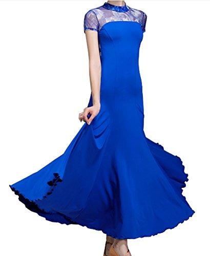 Valse Robe Fleur Robe Jupe Robe De Danse Danse Moderne Jupe Cha Cha Salle De Bal Bleu