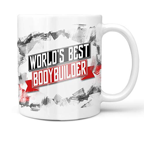 Neonblond 11oz Coffee Mug Worlds Best Bodybuilder with your Custom Name