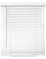 "Biltek Cordless Venetian Window Blinds Horizontal 1"" Slats Privacy Shade Anti-UV White - 20"" W x 64"" H"