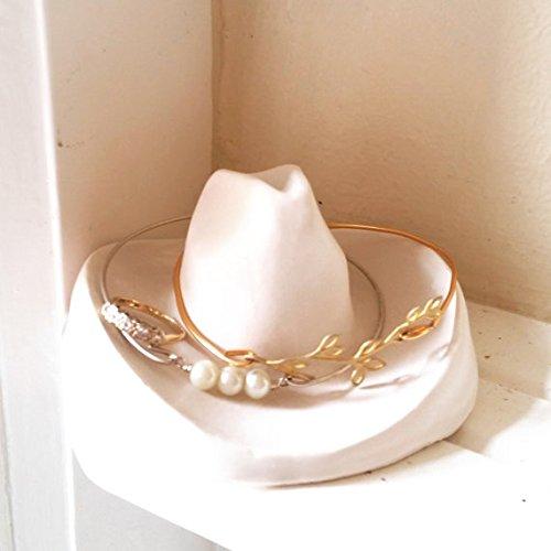 Amazoncom Cowboy hat braclet holder jewelry dish ring dish