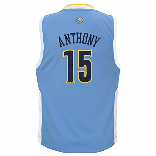 adidas Carmelo Anthony Denver Nuggets NBA Boys Light Blue Official Road Replica Basketball Jersey - Nuggets Jersey Denver Blue