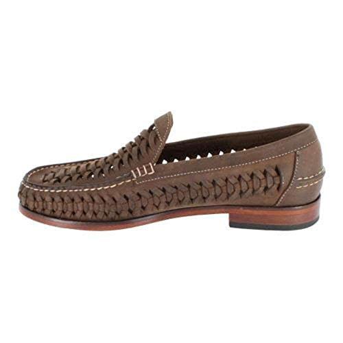 Florsheim Mens Berkley Weave Leather Closed Toe Penny Loafer, Brown, Size 7.0 - Florsheim Berkley Penny Loafer