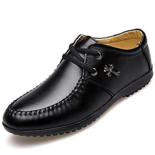 Männer Geschäft Komfort Freizeitschuhe Lederschuhe Schnürschuhe Black