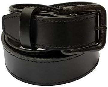 New Ferrer Mens Leather Metal free Belt Carbon Fiber Buckle Hypoallergenic TSA Belt Airport Friendly