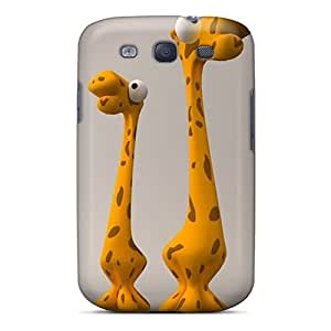 PC Fashionable Design Giraffe Iphone Wallpaper Rugged Case Cover For Galaxy S3 New