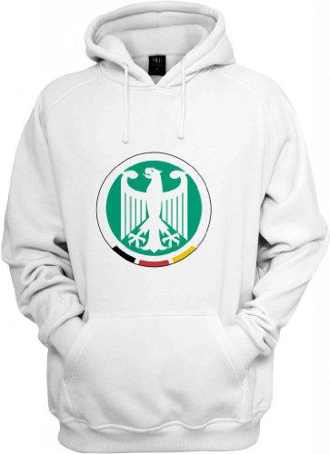 Germany DFB Eagle Crest Basic Logo Hooded Sweatshirt (White) 2X-Large ()
