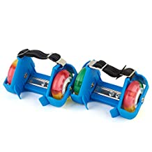 VILOCY Kids Flash Heel Skates Hot Wheels Skating Shoes Easy-on Roller Skates