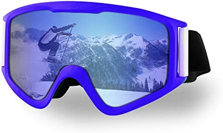 Anikea Ski Goggles, OTG Ski Snowboard Goggles for Men Women Youth, OTG Design, 100 UV 400 Protection