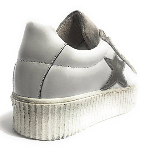 Para TONY Grigio Mujer Bianco Zapatillas WILD fwUCxwqzE