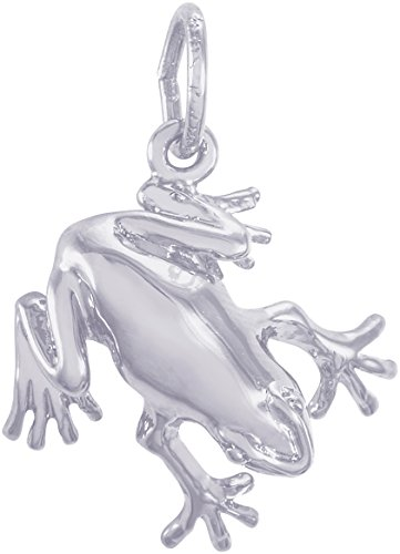 Rembrandt Sterling Silver 3-D Frog Charm (14 x 15 (Sterling Silver 3d Frog)