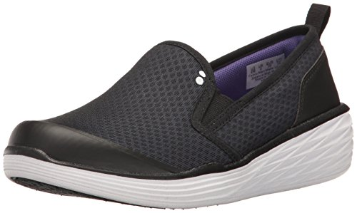 Ryka Womens Neve Fashion Sneaker, Black/Purple, 8.5 W US