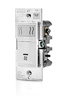 Leviton IPHS5-1LW Decora in-Wall Humidity Sensor & Fan Control, 3A, Single Pole, White (B00H3QQD64) | Amazon Products