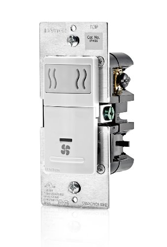 Leviton IPHS5-1LW Humidity Sensor and Fan Control, Single Pole, White (Pole Single Sensor)