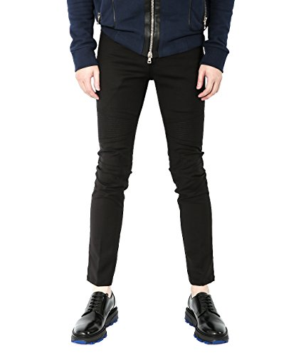 Wiberlux Neil Barrett Men's Cotton Paneled Skinny Fit Jeans 30 (Acne Jeans Skinny Jeans)