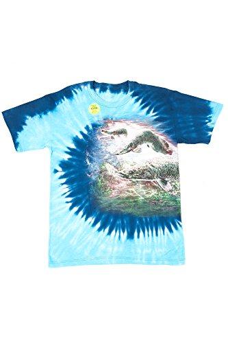 Churinga Tie Dye Mountain T-Shirt Planet Earth arapaima Fish - Rock Bowling Nc