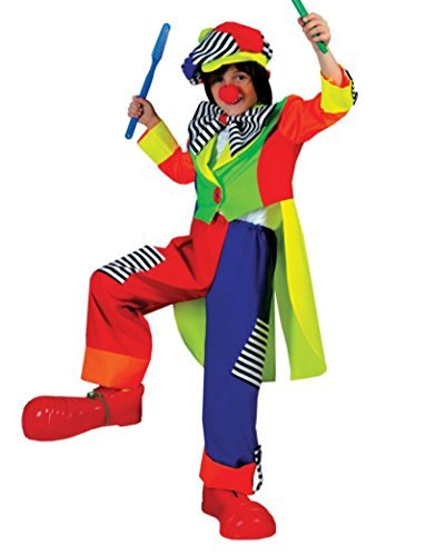 Boys Spanky Stripes Clown Kids Child Fancy Dress Party Halloween Costume, S (4-6)