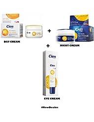 Set of 3 Anti-Wrinkle DAY CREAM - NIGHT CREAM - EYE CREAM - with q10, Hyaluronic Acid & Vitamin E