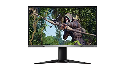 Lenovo Monitor, Y27f 27-Inch Curved Widescreen Gaming Monitor with FreeSync, 65BFGCC1US