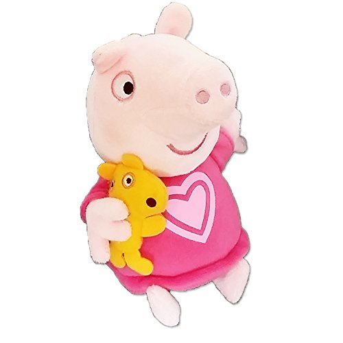(Peppa Pig 18cm Talking Bedtime Peppa With Teddy Soft Plush Toy)