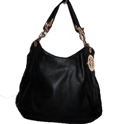 Designer inspired DS flora metal logo Embossed ember chain satchel bag handbag