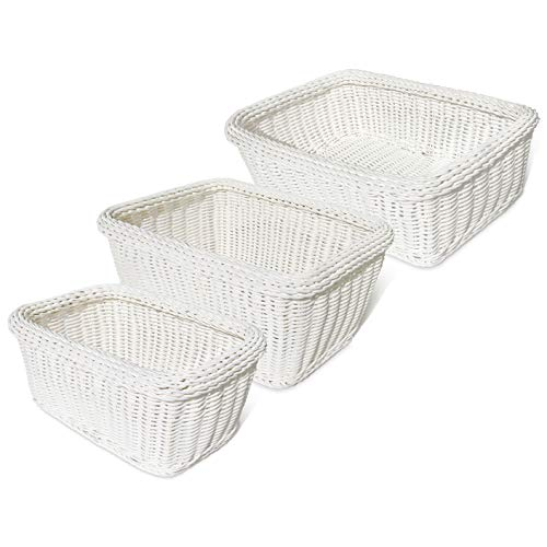 - Colorbasket Hand Woven Waterproof Storage Basket, White