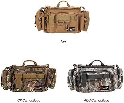 Taille est 32 x 17 x 17 cm Trois Couleurs en Option Bronzer//CP Camouflage//ACU Camouflage Peut Etre Utilis/é comme Un Sac de Taille//App/ât Bo/îte Lixada Sac de P/êche de Multifonctionnel