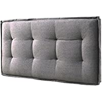 LYKE Home Full-size Wall Mount Faded Upholstered Panel Headboard Grey
