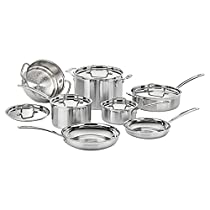 The Stainless Steel Multiclad Pro 12 Piece Cookware Set