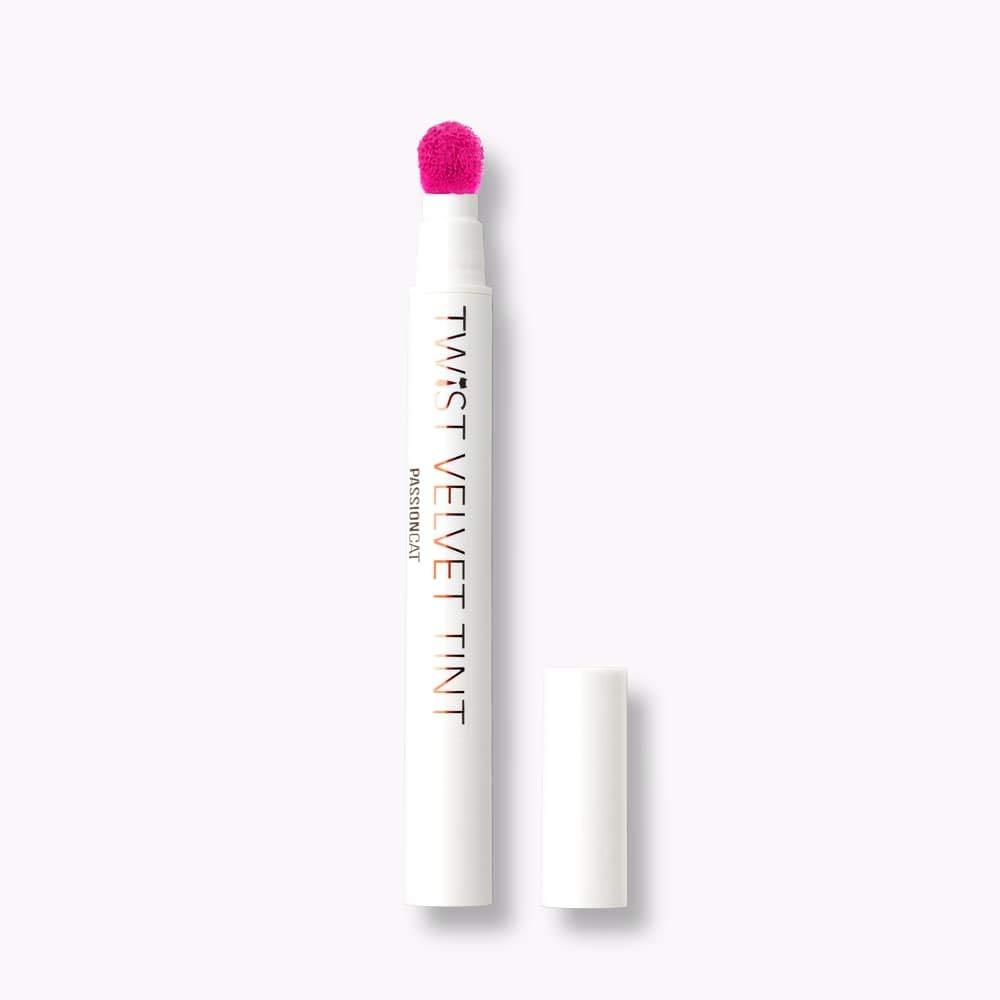 PASSIONCAT Twist Velvet Tint #8 (No.8) - Long Lasting Lip Stain for Lips and Cheek Tint Various Korea Velvet Plumping Lip Marker Lip Matte tints