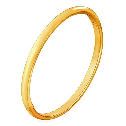 U7 Bangle for Women Girl 18K Gold Plated Simple Cuff Bracelet