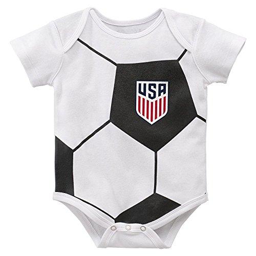 Outerstuff USA Soccer Baby/Infant Battlefield Onesie Creeper (24 ()