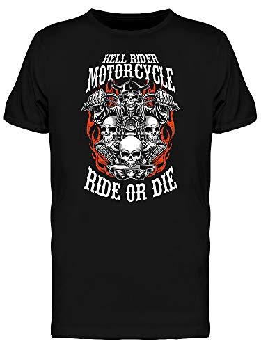 Custom Motorcycle Emblems Tee Men's -Image by Shutterstock from Teeblox