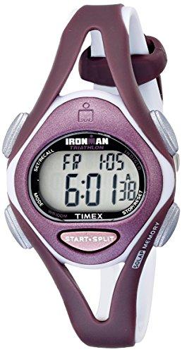 Timex Women's T5K007 Ironman Sleek 50-Lap Plum Resin Watch with Purple Strap