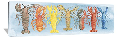 (Global Gallery Elyse DeNeige A Rare Catch Red Lobster Canvas Artwork 72