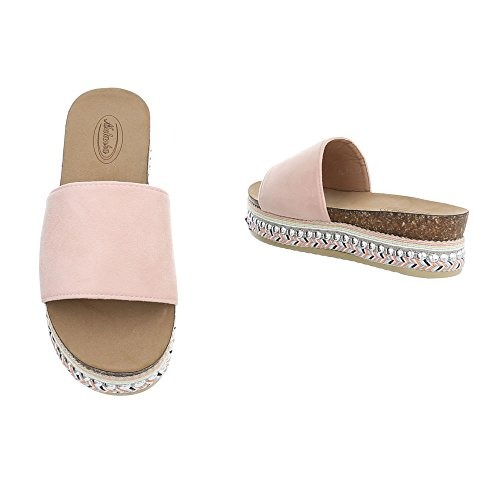 Chaussures Femme Sandales Plat Mules Rose Pointure 41