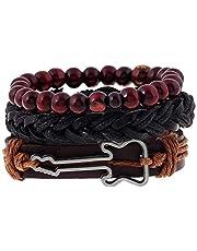 guitar men bracelet with set of three