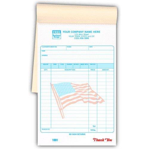 Special Wording Custom Patriotic Receipts in a Book by PrintEZ (Image #1)