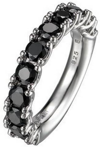 Esprit Collection Damen Ring 925 Sterling Silber rhodiniert Kristall Zirkonia Idya night Schwarz