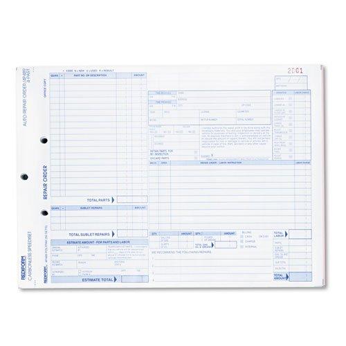 Rediform Four-Part Auto Repair Form, 8 1/2 x 11, Four-Part Carbonless, 50 Forms