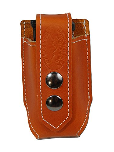 New Barsony Saddle Tan Leather Single Magazine Pouch for ...