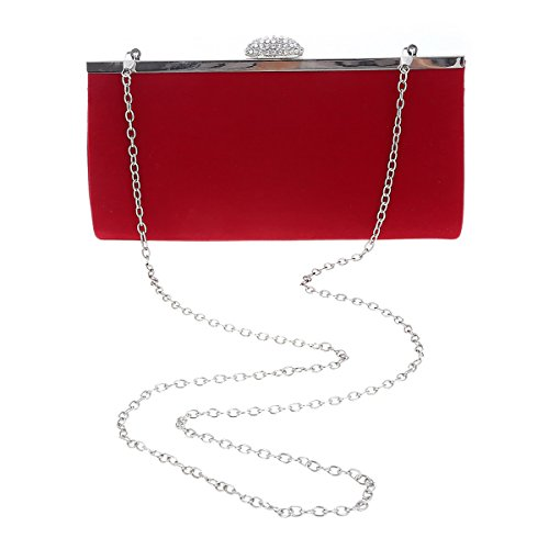 Simple Femme Soirée Vif Damara de Pochette Velours Embrayage Rectangle Rose tY4Y6Rqw