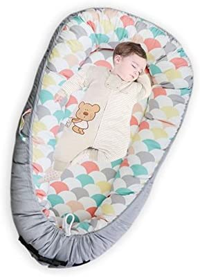 Baby Newborn and Infant Lounger?Portable Bassinet, Nest for Cosleeping, Tummy Time and Lounging, Super Soft and Breathable (Shell)