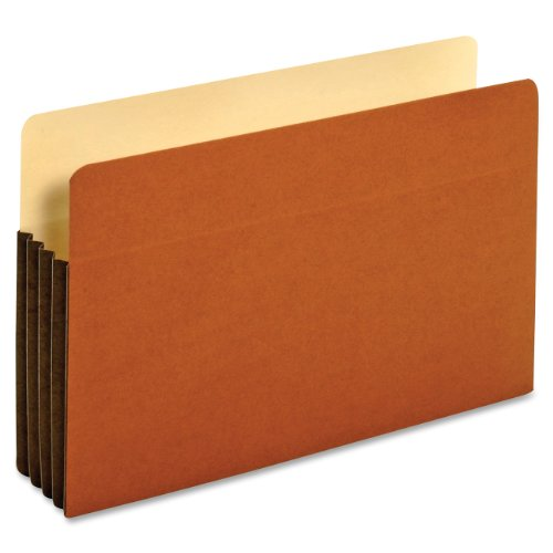 Globe-Weis/Pendaflex File Pockets, 3.5-Inch Expansion, Tyvek Gussets, Legal Size, Brown, 10 Pockets per Pack (64264) ()